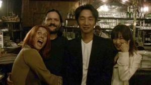 De g. à d. : Manu, Matt Murdock, Akira Yamaoka et Suzuka Asaoka, de Nolife (Crédit photo : ©Alex Pilot)