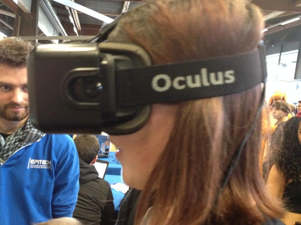 Notre Tifa a testé l'Oculus Rift pour vous, sur le stand d'Epitech