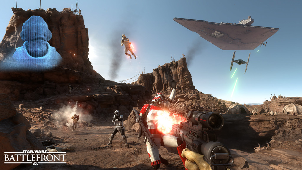 Star Wars Battlefront E3 Screen 2 _ Survival Mission Tatooine WM