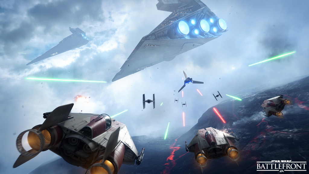 Star Wars Battlefront - Fighter Squadron - A Wing vs Imperial Shuttle _ FINAL FOR RELEASE