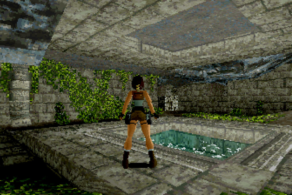 Tomb Raider, 1996, Jeremy H. Smith, executive producer; Toby Gard, Heather Gibson, Neal Boyd, graphic artists; Jason Gosling, Paul Douglas, Gavin Rummery, programmers, SEGA Saturn, © 1996 SQUARE ENIX CO., LTD. All Rights Reserved