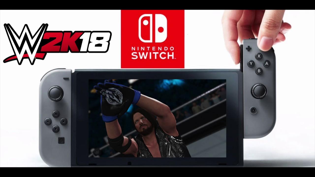 wwe 2k18 sortira aussi sur nintendo switch level 1