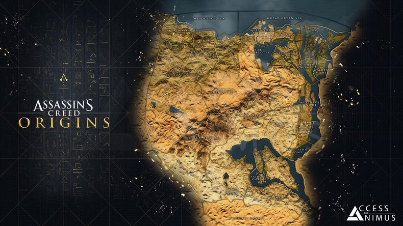 Assassin's Creed Origins carte